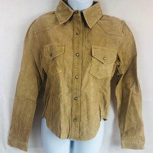 Ladies long sleeve jacket/shirt passport Sz m